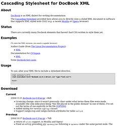 DocBook Cascading Stylesheet (CSS2)