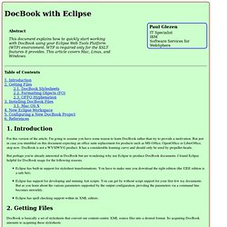 DocBook with Eclipse