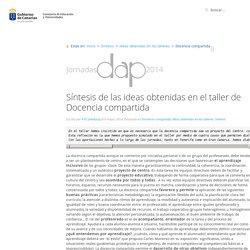 Docencia compartida » II Jornadas DAP