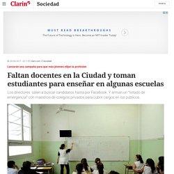 Faltan docentes en la Ciudad y toman estudiantes para enseñar en algunas escuelas