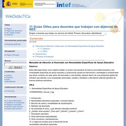 11 Guias Útiles para docentes que trabajan con alumnos de NEE - WikiDidácTICa