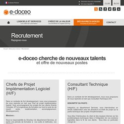 e-doceo recutement - offres d'emploi
