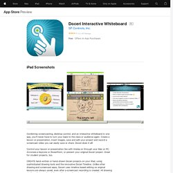 Doceri Interactive Whiteboard on the AppStore