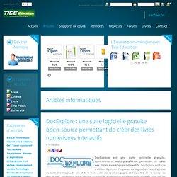 DocExplore : une suite logicielle gratuite open-source permettant de créer des livres numériques interactifs