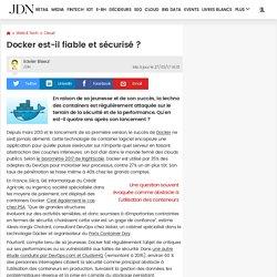 Docker est-il fiable et sécurisé?