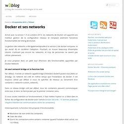 Docker et ses networks