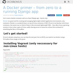 A Docker primer – from zero to a running Django app