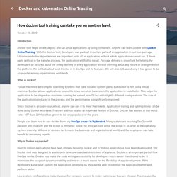 How docker tool training can take you on another level.