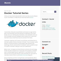 Docker Tutorial Series