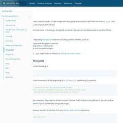 Dockerize MongoDB