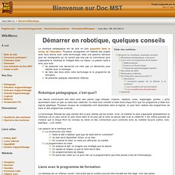 DocMST:DemarrerRobotique