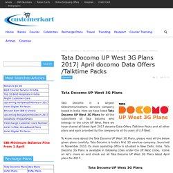 Tata Docomo UP West 3G Plans