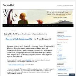 Docosphère : les blogs de chercheurs et professeurs d'université