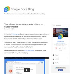 Official Google Docs Blog