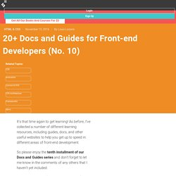 20+ Docs and Guides for Front-end Developers (No. 10)