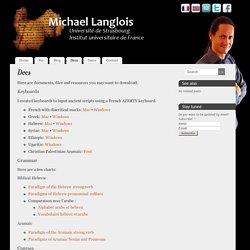 Docs - Michael Langlois