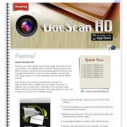 DocScan HD: iPad Document Scanner