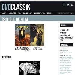 Le Docteur Mabuse de Fritz Lang (1922) - Analyse et critique du film