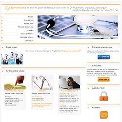 E-agenda du Docteur Hupertan - gestion des rendez-vous par les patients.