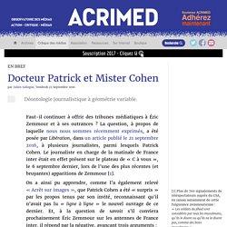 Docteur Patrick et Mister Cohen