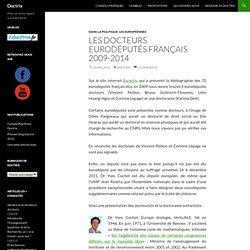 Les docteurs eurodéputés français