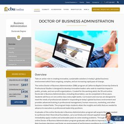 CBU Online: Doctor of Business Administration(DBA)