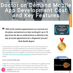 Doctor on Demand Mobile App Development Cost and Features
