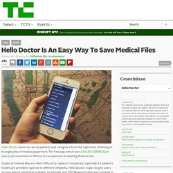 Hello Doctor Is An Easy Way To Save Medical Files