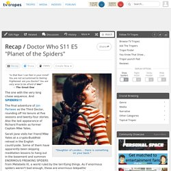 "Doctor Who S11 E5 ""Planet of the Spiders"" / Recap"