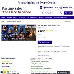 Doctor Who Seasons 1-9 (DVD) – Pristine Sales