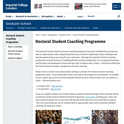 Doctoral Student Coaching Programme