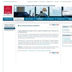 École doctorale LLSH - Les contrats doctoraux ministériels