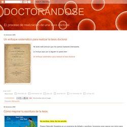 DOCTORÁNDOSE