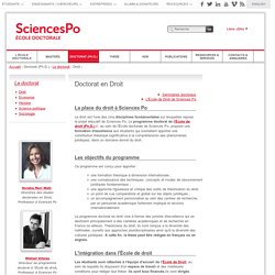 Sciences Po école doctorale