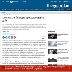 Doctors are 'failing to spot Asperger's in girls'