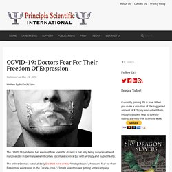 COVID-19: Doctors Fear For Their Freedom Of Expression