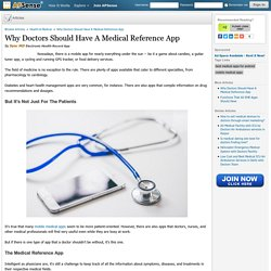 Why Doctors Should Have A Medical Reference App