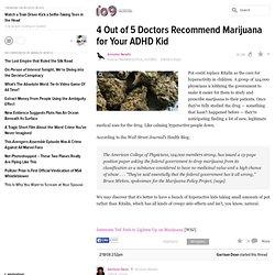 Marijuana for Your ADHD Kid