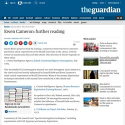 More on The Shock Doctrine: Further reading on Ewen Cameron