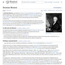 Doctrine Monroe