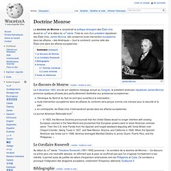 Doctrine Monroe