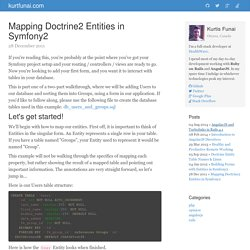 Mapping Doctrine2 Entities in Symfony2