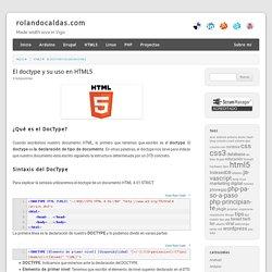 El doctype y su uso en HTML5 - rolandocaldas.com