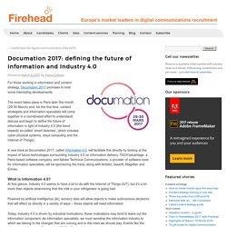 Documation 2017: defining the future of information and Industry 4.0