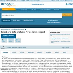IEEE Xplore Document - Smart grid data analytics for decision support