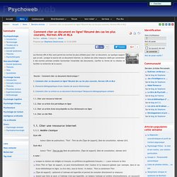 Comment citer un document en ligne? Résumé des cas les plus courants, Normes APA et MLA