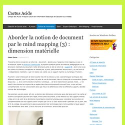 Aborder la notion de document par le mind mapping (3) : dimension matérielle