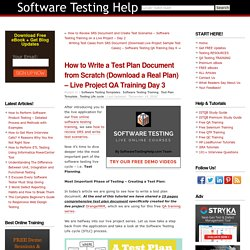 How to Write a Test Plan Document from Scratch (Download a Real Plan) – Live Project QA Training Day 3