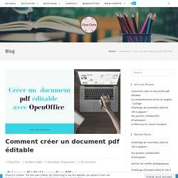Comment créer un document pdf éditable - Chez Chris Resources