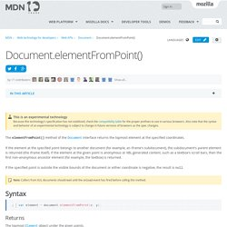 Document.elementFromPoint() - Web APIs